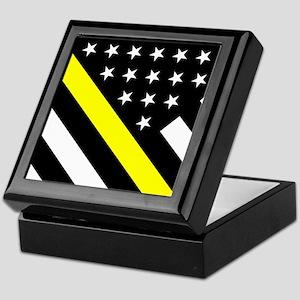 U.S. Flag: Thin Yellow Line Keepsake Box