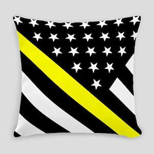 U.S. Flag: Thin Yellow Line Everyday Pillow