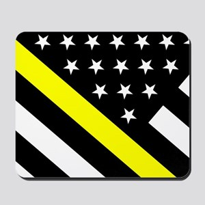 U.S. Flag: Thin Yellow Line Mousepad