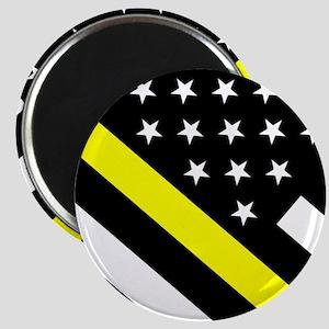 U.S. Flag: Thin Yellow Line Magnet
