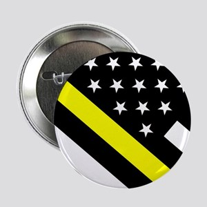 "U.S. Flag: Thin Yellow Line 2.25"" Button (10 pack)"