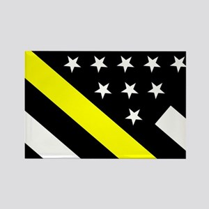 U.S. Flag: Thin Yellow Line Rectangle Magnet