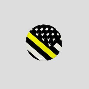 U.S. Flag: Thin Yellow Line Mini Button
