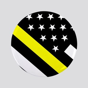 U.S. Flag: Thin Yellow Line Button