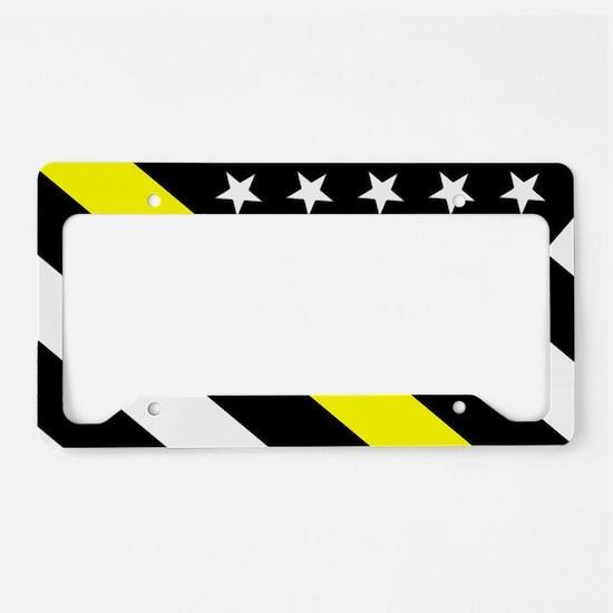 U.S. Flag: Thin Yellow Line License Plate Holder