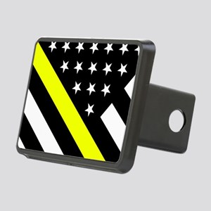 U.S. Flag: Thin Yellow Lin Rectangular Hitch Cover