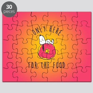 Peanuts Only Here For Food Puzzle