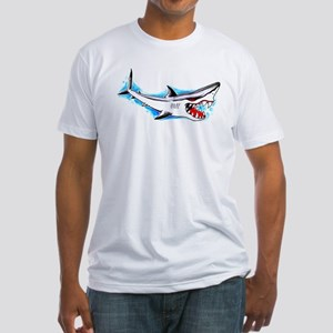 Shark Tattoo Art Fitted T-Shirt