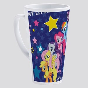 MLP: Mane Six Stars 17 oz Latte Mug
