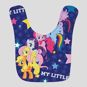 MLP: Mane Six Stars Polyester Baby Bib