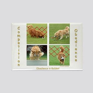 Golden Retriever Obedience Rectangle Magnet