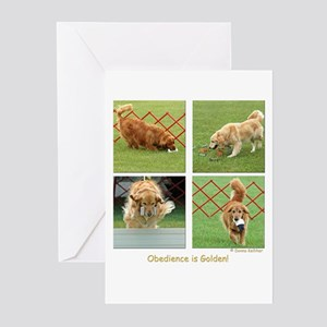 Golden Retriever Obedience Greeting Cards (Package