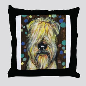 Portrait of a wheatie brown Throw Pillow