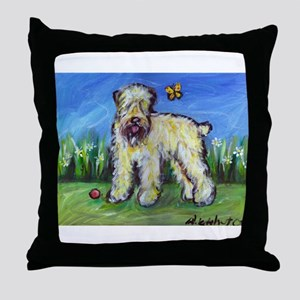 Wheatie eyes butterfly Throw Pillow