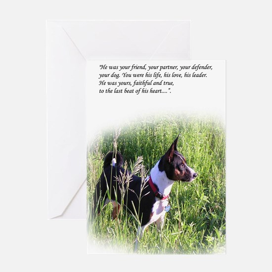 Basenji sympathy Greeting Card