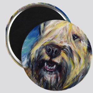 """Laughing wheatie portrait 2.25"""" Magnet (100 pack)"""