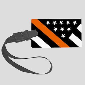 U.S. Flag: The Thin Orange Line Large Luggage Tag