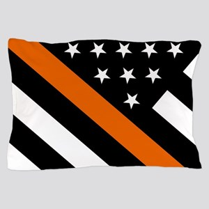 U.S. Flag: The Thin Orange Line Pillow Case