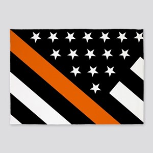U.S. Flag: The Thin Orange Line 5'x7'Area Rug
