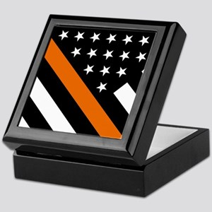 U.S. Flag: The Thin Orange Line Keepsake Box