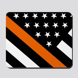 U.S. Flag: The Thin Orange Line Mousepad