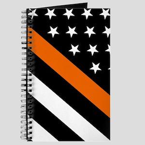 U.S. Flag: The Thin Orange Line Journal