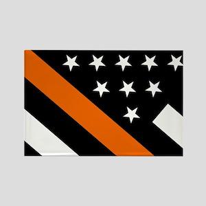 U.S. Flag: The Thin Orange Line Rectangle Magnet