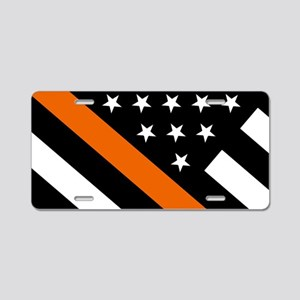 U.S. Flag: The Thin Orange Aluminum License Plate