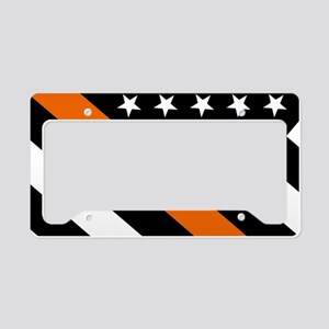 U.S. Flag: The Thin Orange Li License Plate Holder