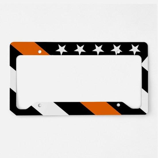 U.S. Flag: The Thin Orange Li License Plate Holder