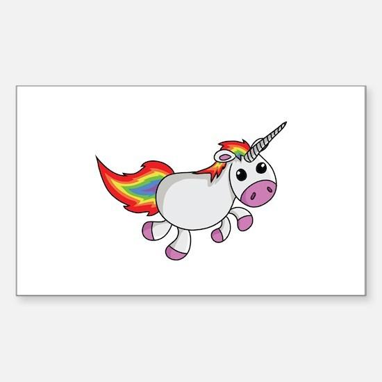 Cute Cartoon Unicorn Decal