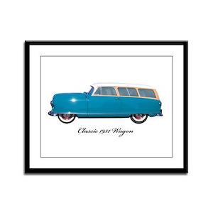 1951 Nash Wagon Framed Panel Print