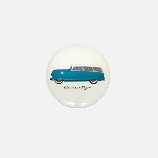 1951 Nash Wagon Mini Button