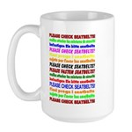*NEW DESIGN* SEATBELTS PLEASE! Large Mug