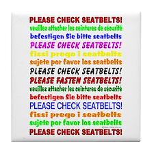 *NEW DESIGN* SEATBELTS PLEASE! Tile Coaster