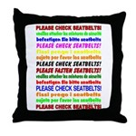 *NEW DESIGN* SEATBELTS PLEASE! Throw Pillow