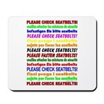 *NEW DESIGN* SEATBELTS PLEASE! Mousepad