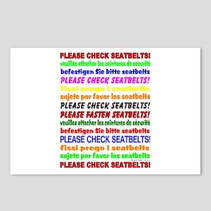 *NEW DESIGN* SEATBELTS PLEASE! Postcards (Package