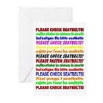 *NEW DESIGN* SEATBELTS PLEASE! Greeting Cards (Pac