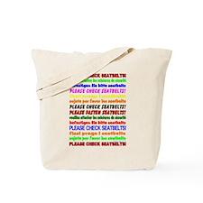 *NEW DESIGN* SEATBELTS PLEASE! Tote Bag