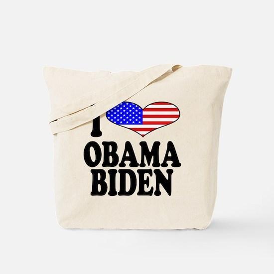 I Love Obama/Biden Tote Bag
