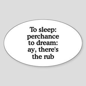 The Rub Oval Sticker