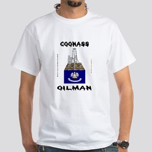 Coonass Oilman White T-Shirt