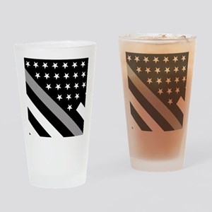 U.S. Flag: The Thin Grey Line Drinking Glass