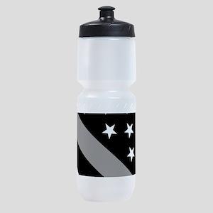 U.S. Flag: The Thin Grey Line Sports Bottle