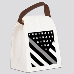 U.S. Flag: The Thin Grey Line Canvas Lunch Bag