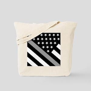 U.S. Flag: The Thin Grey Line Tote Bag