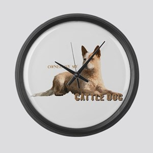 Cattle Dog Large Wall Clock