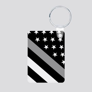 U.S. Flag: The Thin Grey L Aluminum Photo Keychain