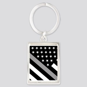 U.S. Flag: The Thin Grey Line Portrait Keychain